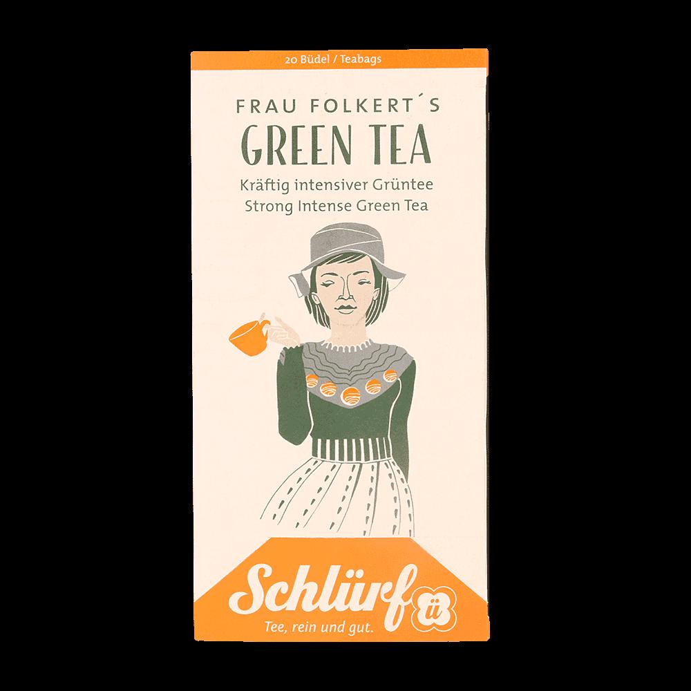 Frau Folkerts Green Tea - Büdel