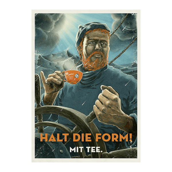 "Metallpostkarte ""Halt die Form"""